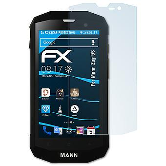 atFoliX Glass Protector compatible with Mann Zug 5S Glass Protective Film 9H Hybrid-Glass