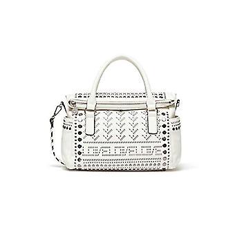 Desigual White Woman Handtasche (Weiß (BLANCO 1000)) 14x24x33 cm (B x H x T)