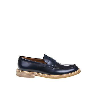 Doucal's Du2405phoeuf007ab10 Men's Black Leather Loafers