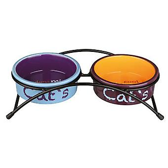 Trixie Eat on Feet Ceramic Bowl Set for Cats