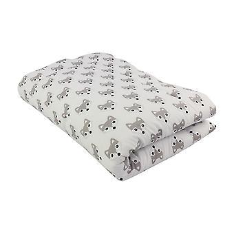 Crawling blanket Foxi, white, 140x100 cm