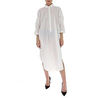 Gentry Portofino D521sig0001 Women's White Cotton Dress