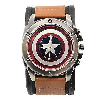 Captain America Shield Watch med dual fest justerbar stropp