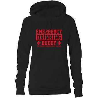 Womens Sweatshirts Kapuzen Hoodie - Notfall trinken Buddy