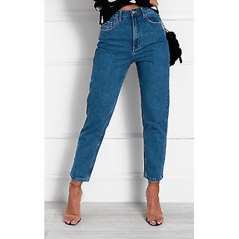 IKRUSH mujeres tess alta cintura mamá Jeans
