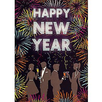Simon Elvin Couples New Year Wishes Cards (Pack of 6)