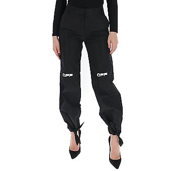 Off-white Owca097r20h140871001 Women's Black Cotton Pants