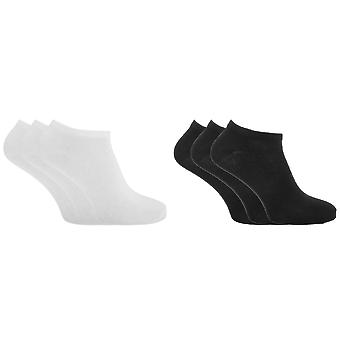 Womens Cotton Rich Lycra Trainer Socks (Pack Of 3)