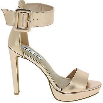 Steve Madden 910008370701015002 Kvinnor's Guld faux läder sandaler