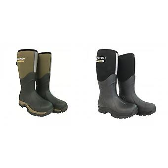 Rockfish Mens Neoprene Lined Groundhog Wellington Boots