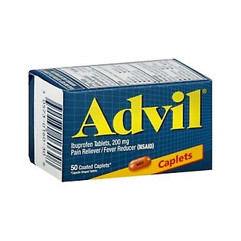 Advil ibuprofen, 200 mg, coated caplets, 50 ea