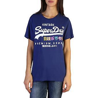 Superdry Original Frauen ganzjährig T-Shirt - blaue Farbe 37652