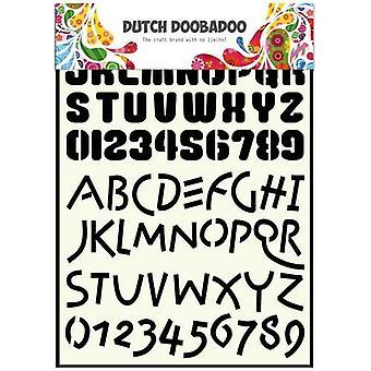 Dutch Doobadoo Dutch Stencil Art Alphabet 4 A4 470.455.005