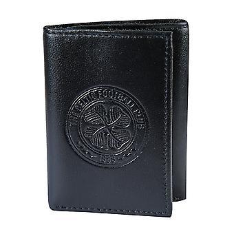 Celtic FC Official Football Gift Tłoczony Herb Skórzane Pieniądze Portfel podróży