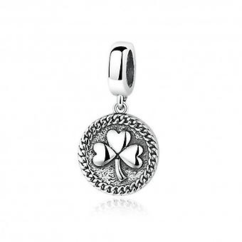 Sterling Silver Pendant Charm Clover - 5254