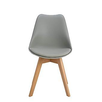 Wood4you - Frankfurt grauer Essstuhl - Pariso - Low - Sitzhöhe: 41 cm - 2 Stück