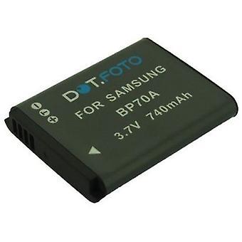 Dot.Foto Samsung BP70A batteri - 3.7V / 740mAh