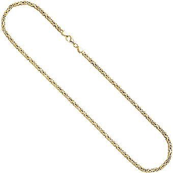 King chain 925 sterling silver gold gold plated 3.2 mm 60 cm chain necklace