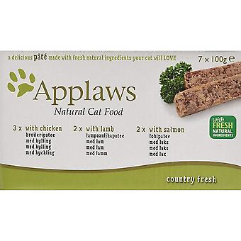 Applaws Pate With Chicken Lamb And Salmon Wet Cat Food (7 Trays)