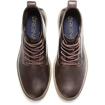 Cole Haan Mens C30349-BROWN-10.5-M Leather Closed Toe Ankle Fashion Boots