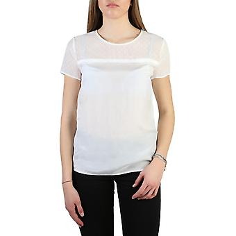Woman silk short t-shirt round t-shirt top aj74967