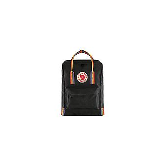 Fjällräven Kånken Rainbow Backpack (Black/Rainbow Pattern)