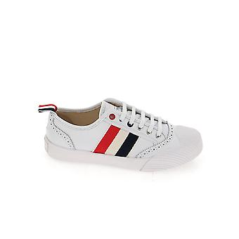 Thom Browne Fff056a06257100 Women's White Leather Sneakers