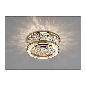 Dante Gu10 Downlight With 3 Levels Of Crystal Beads Gold / Transparent