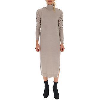 Semi-couture Y9aa03b600 Women's Beige Wool Dress