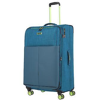 travelite Proof Trolley L, 4 rullar, 78 cm, 94 L, turkos