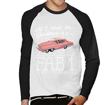 Thunderbirds All I Want For Christmas Is A FAB 1 Men's Baseball Long Sleeved T-Shirt