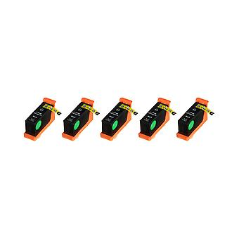 RudyTwos 5 x erstatning for Lexmark 100XL blekk enhet svart kompatibel med innvirkning S300, S301, S302, S305, S308, samhandle S601, S602, S605, S606, S608, tolker S402, S405, S408, S409, intuisjon S502, S