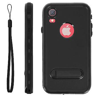 Protective Case iPhone XR Bi-material Waterproof 2m with video holder Black