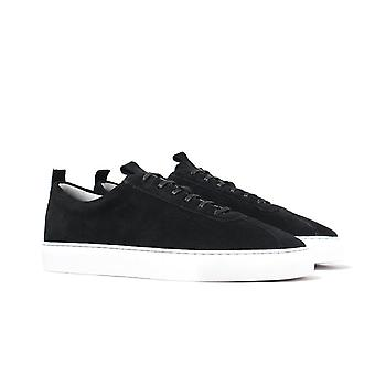 Grenson Sneaker 1 Black Suede Leather Trainers