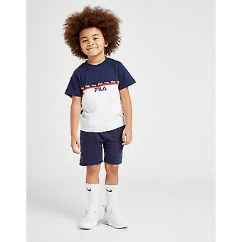 New Fila Boys-apos; Zayn Tape T-Shirt/Shorts Set Navy