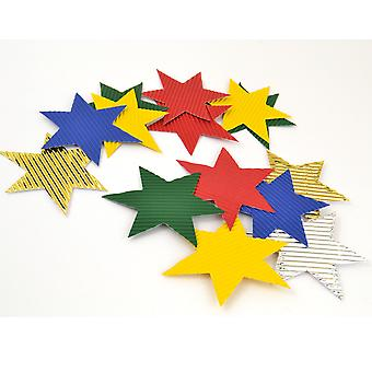 50 Corrugated Die Cut Star Shapes for Kids Crafts