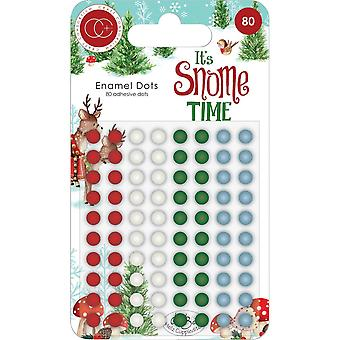 Consórcio craft It's Snome Time Enamel Dots