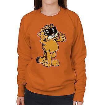 Garfield tummen och solglasögon upp kvinnor ' s Sweatshirt