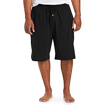 Essentials Men's Big & Tall Knit Pyjama Shorts, -Black, 4XL