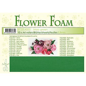 Leane Creatief Flower Foam Sheets A4 Moss Green
