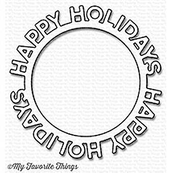 Meine Lieblings-Dinge Die-Namics Happy Holidays Kreisrahmen