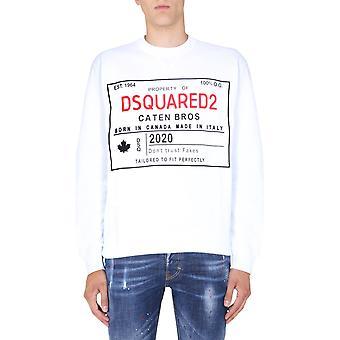 Dsquared2 S71gu0402s25030100 Miehet&s Valkoinen Puuvilla Collegepaita