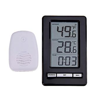 TS-WS-47 Wetter Digital Wireless Thermometer Weiß +Schwarz