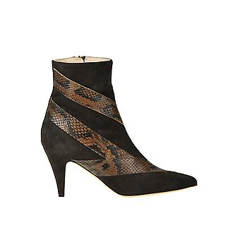 Gia Couture Ezgl486002 Women's Brown Suede Ankle Boots