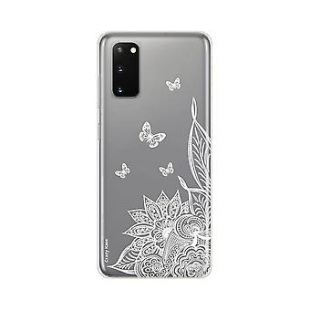 Hull For Samsung Galaxy S20 Soft Mandala Flower And White Butterflies