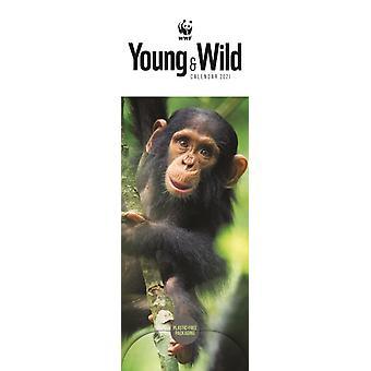 WWF Young  Wild Slim Calendar 2021