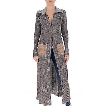 Missoni Mda00103bk00mlsm30h Women's Grey Wool Cardigan