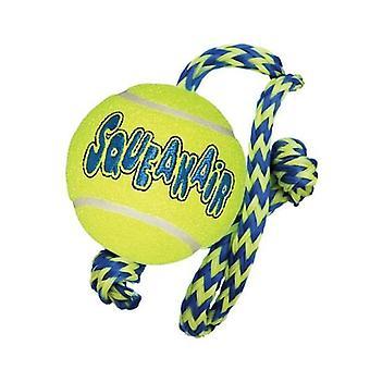 Kong Airdog Squeaker Ball & Rope Med
