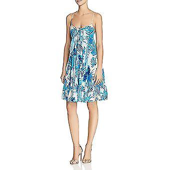Rococo Sand | Leaf-Print Silk Dress
