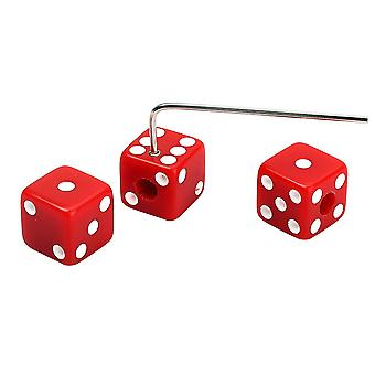 3PCS dice perillas de control para Split Shaft Fender Guitarra Bajo Rojo